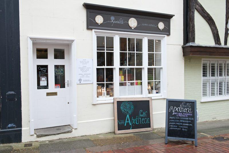 Apothem's elegant shopfront