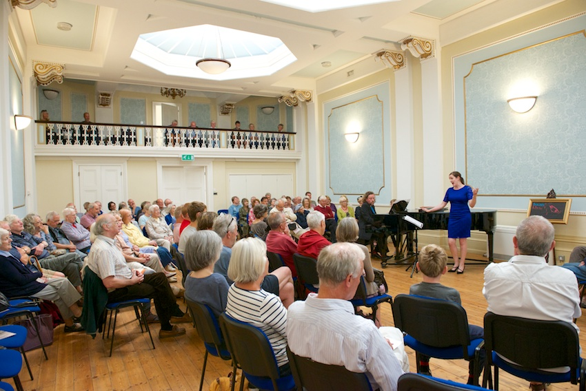 A concert at the Assembly Rooms.