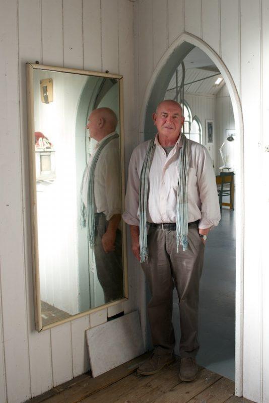 Nick Kenny in the door to the bathroom