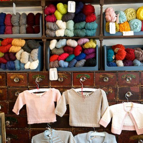 Knitting, wool, Faversham