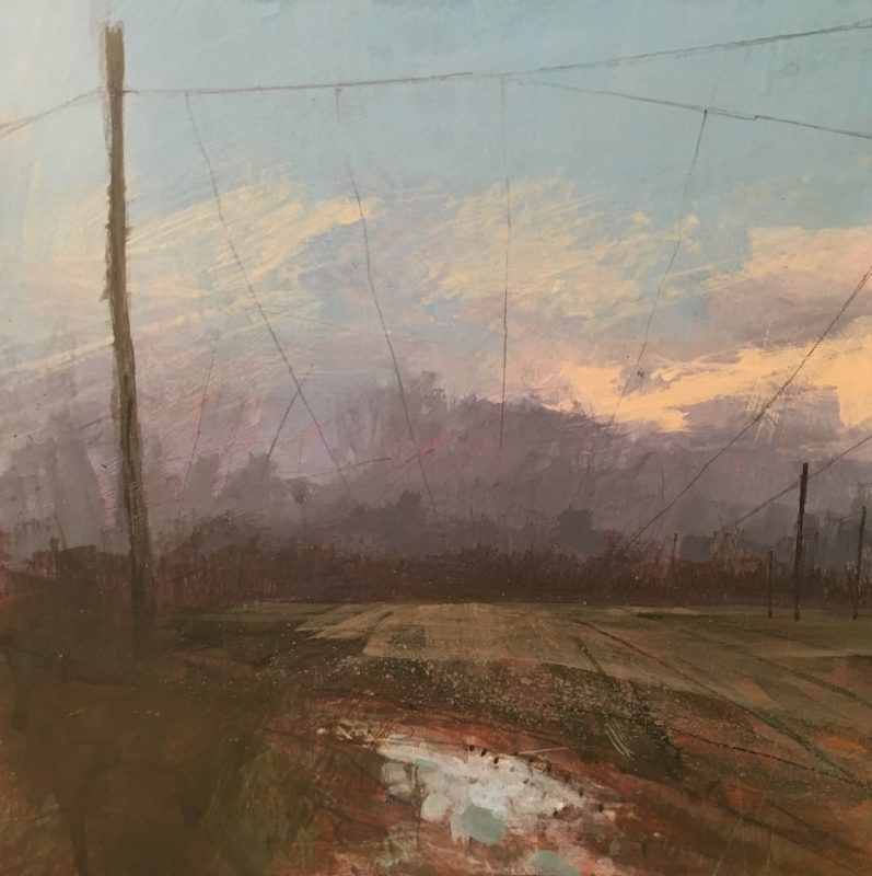 'Winter Hop Field' RA Summer Exhibition by Paul Fowler