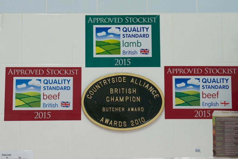 Doughty's proudly display a few of their many awards.