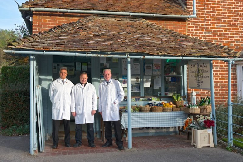 Bruce,Vince and Terry, the stalwarts of Doughty's butchers in Doddington, Kent