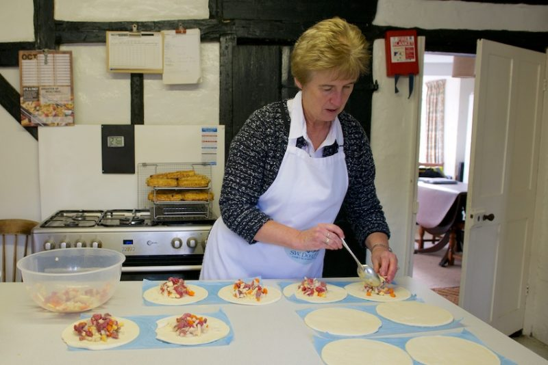 Alison Church makes the award winning pasties.