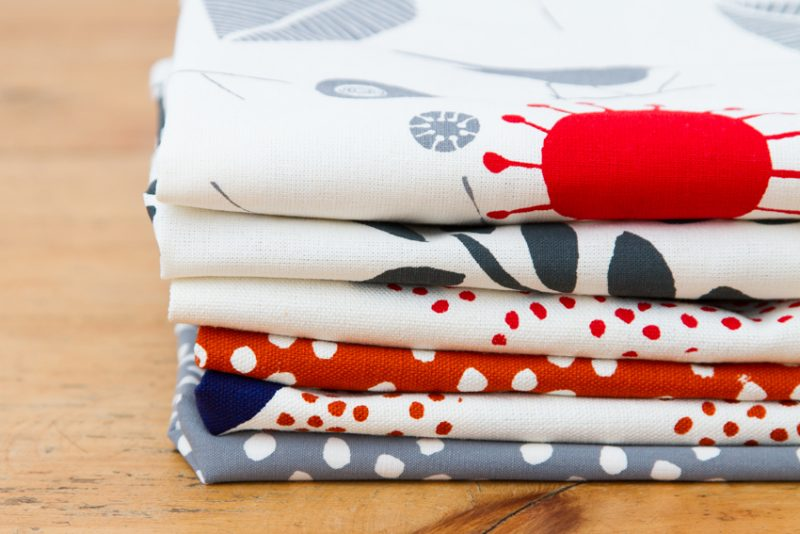 Cheery fabrics designed and printed by Fable and Base.