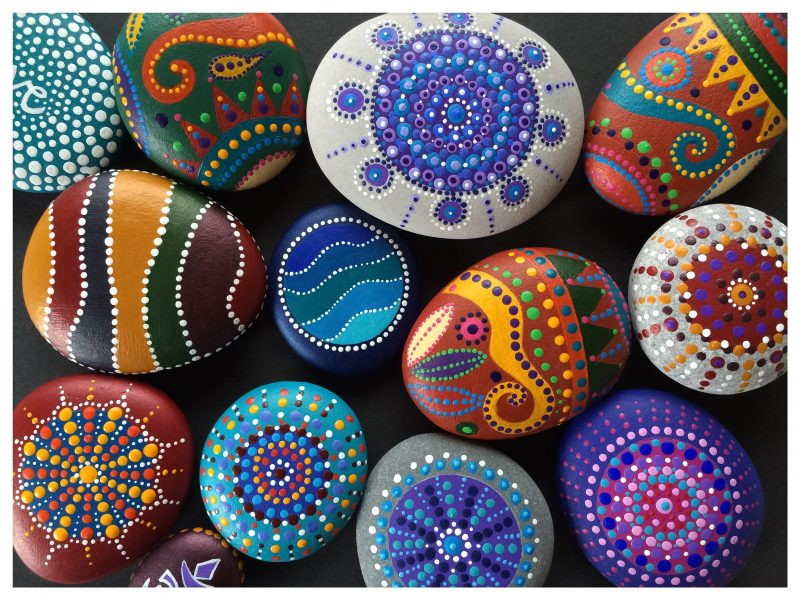 painted pebbles, Jan Plaice, Christmas, shopping, Whitstable, Francine Raymond