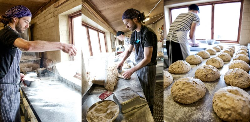 Bakery: The sourdough bread-making process