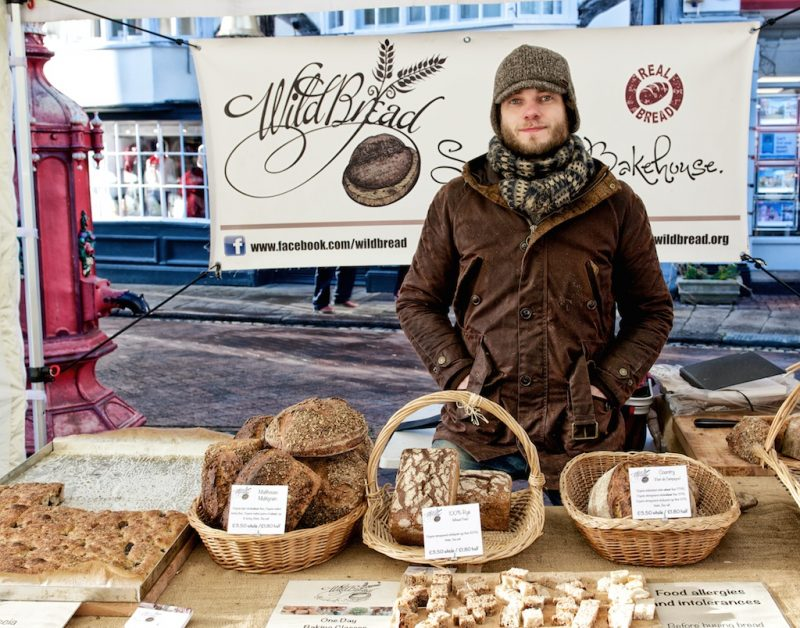 Bakery: James in Faversham market on a frosty January morning