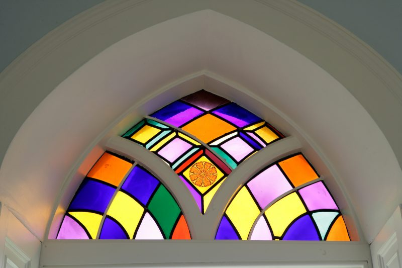 Belmont: A surprisingly bright stained glass window