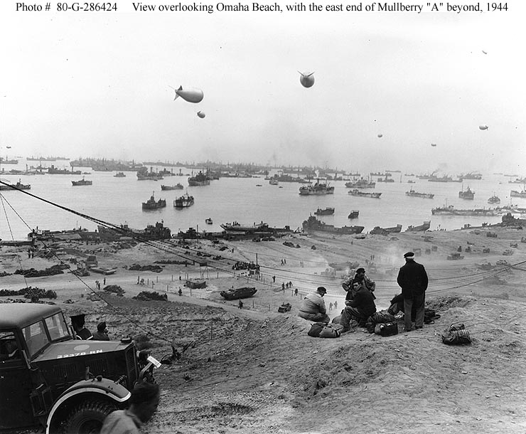 Omaha beach with Mulberry A beyond