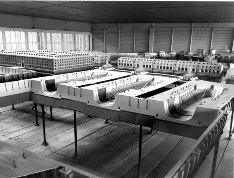 The remarkable Dockyard Model prior to its removal from the port of Sheerness in the 1970s