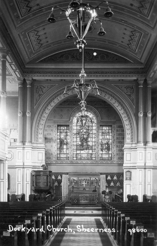 Dockyard Church Interior c.1890