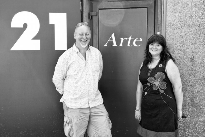 Tom and Rita - the entrance to the studio