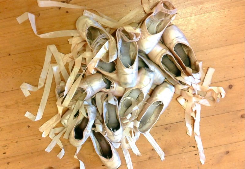 Ballet shoes as art, dance