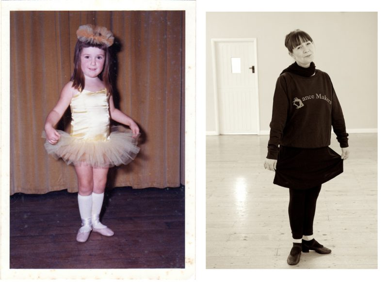 Katie at three...and a few years later, dance