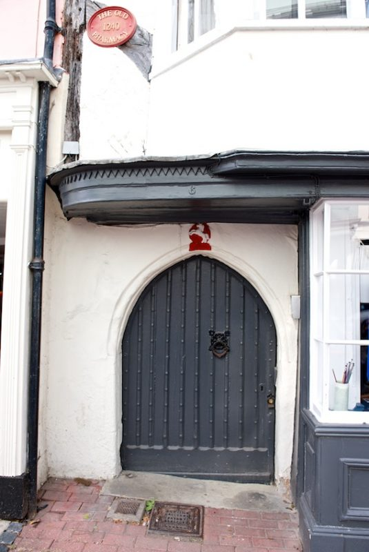14th century door in the Market Place, Faversham