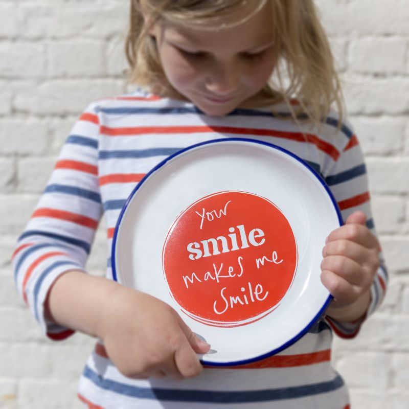 Smiley enamelware