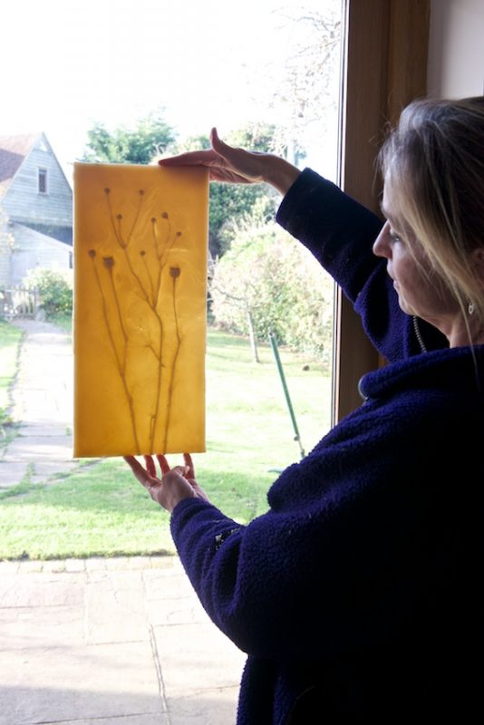 Kate Linforth shows the luminescent quality of beeswax