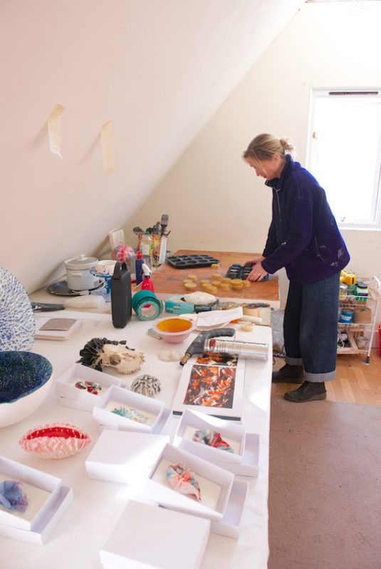Kate Linforth in her studio