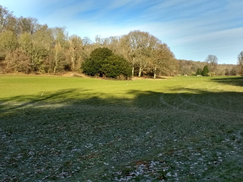 A winter walk around Faversham. The long valley through the Lees Court estate