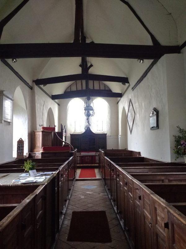 St leonard's Church Badlesmere, famed for its box pews and little altered 18th century interior