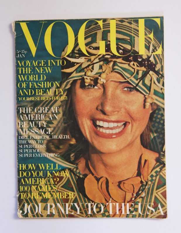 Jan de Villeneuve on the cover of Vogue in 1971
