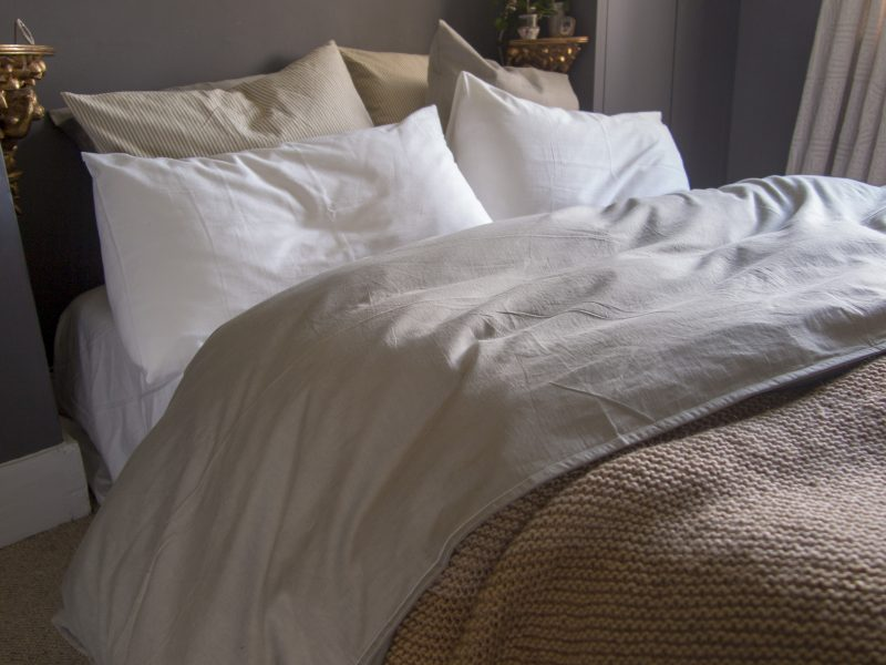 Organic, plant-dyed bed linen made sustainably by Juniper & Bliss