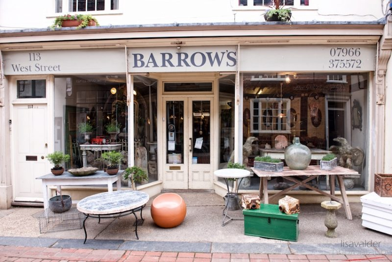 Barrow Antiques, Faversham: Antiques spilling out onto the pavement outside Peter Barrow's shop in West Street
