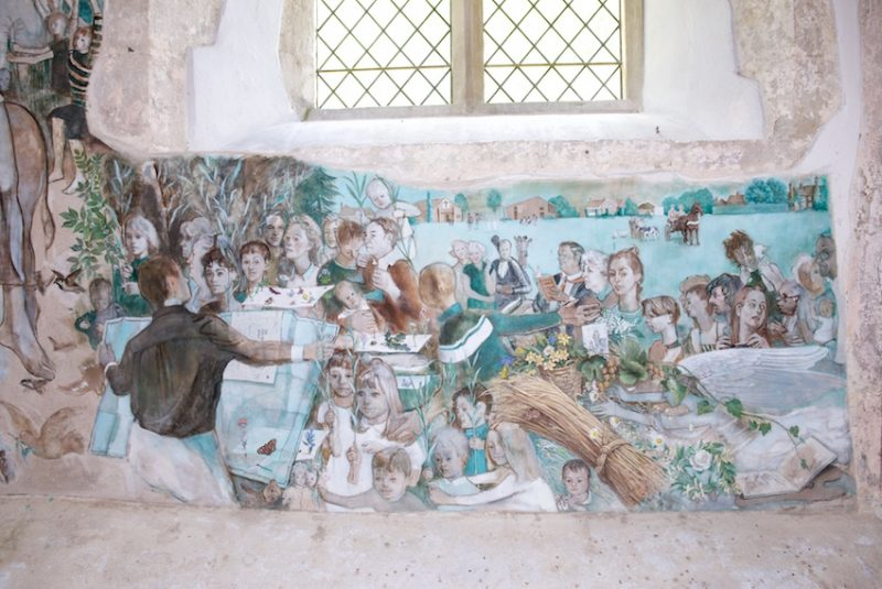 Murals at Challock Church, Kent
