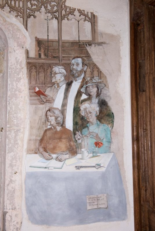 John Ward's mural at Challock Church