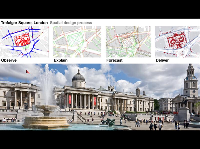 Space Syntax, Trafalgar Square