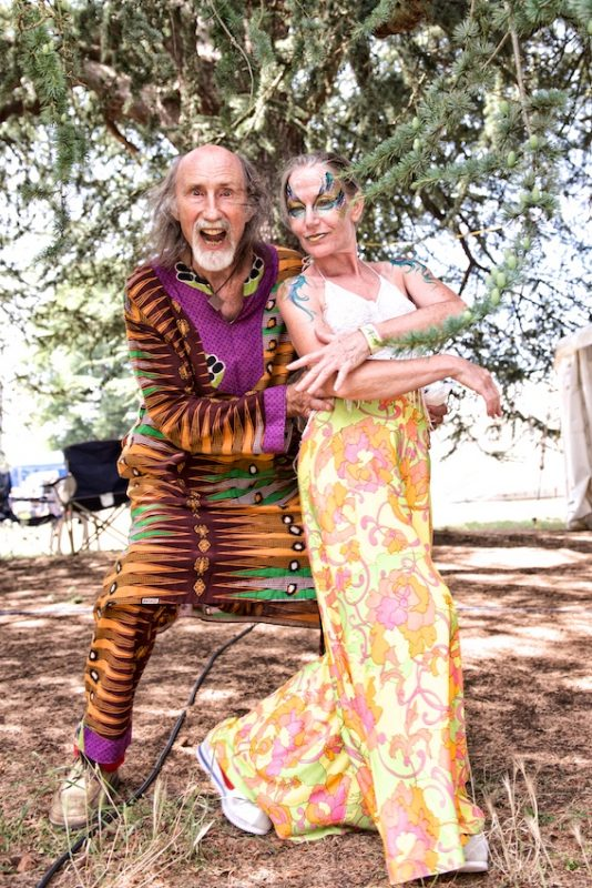Arthur Brown and a psychedelic friend backstage