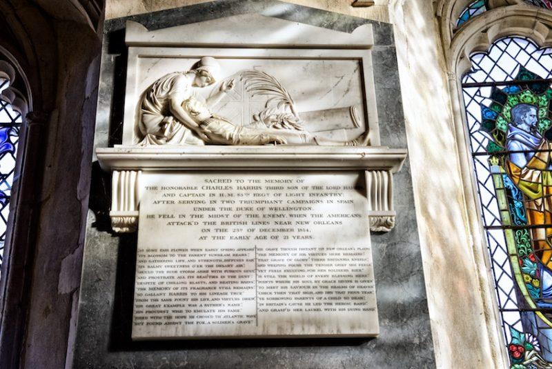 Monument by the neo-classical sculptor, John Flaxman to Hon Charles Harris, Throwley Church, Kent