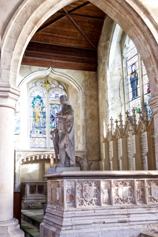 the 1st Lord Harris in the North Chapel, Throwley Church