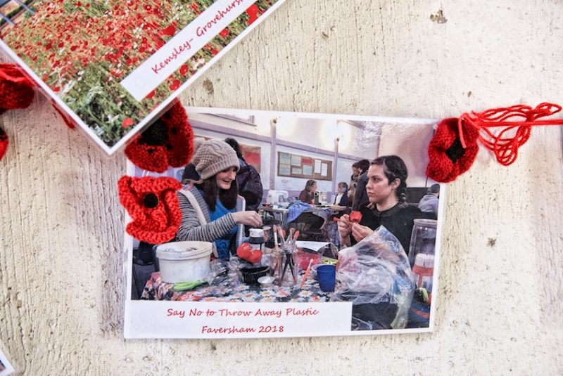 A poppy making workshop