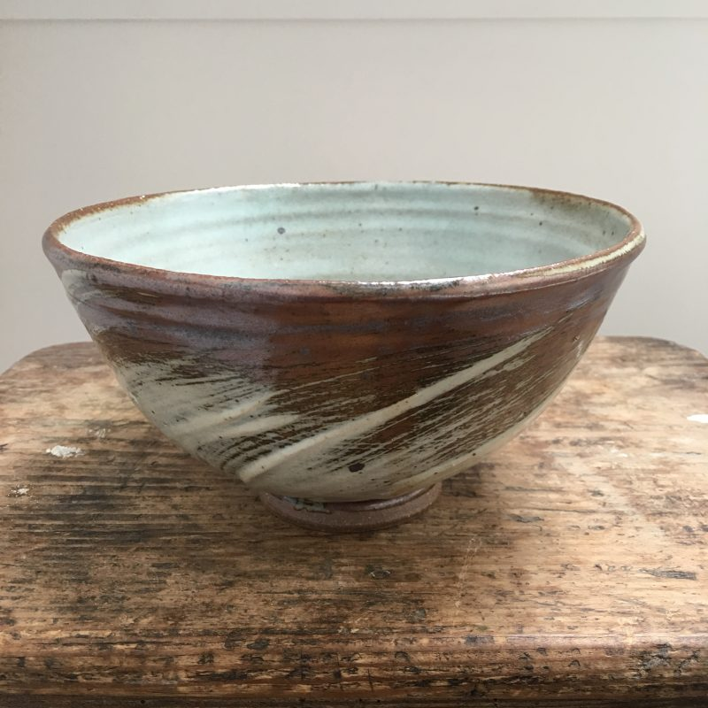 A piece by Lucy Rutter, here inspired by her time working in Bernard Leach's studio