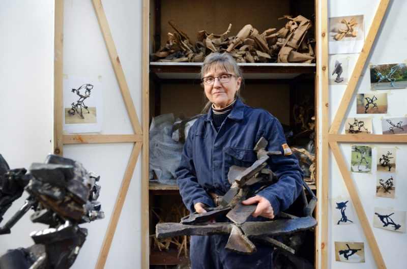 Katherine Gili in her Faversham studio. Photo: Anne Purkiss