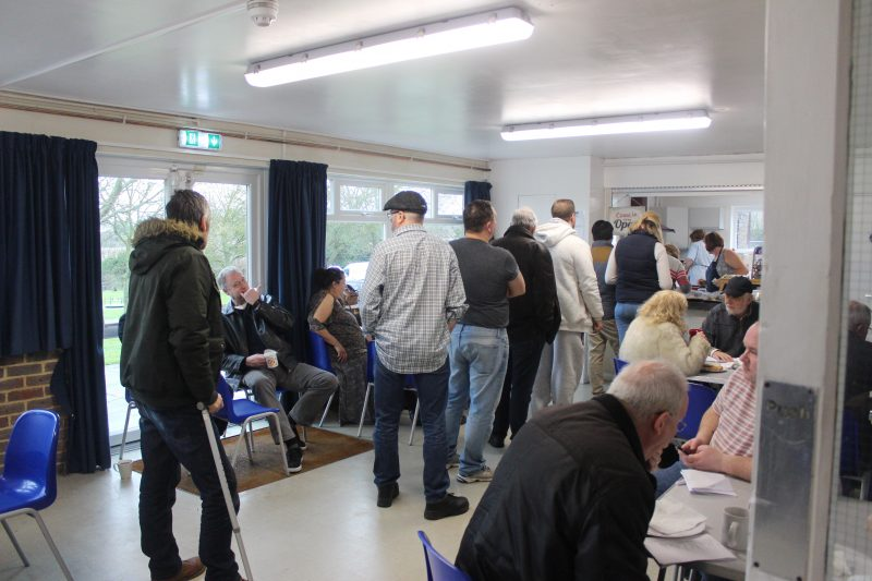 refreshments on offer at Swale Auctions held in Boughton Village Hall