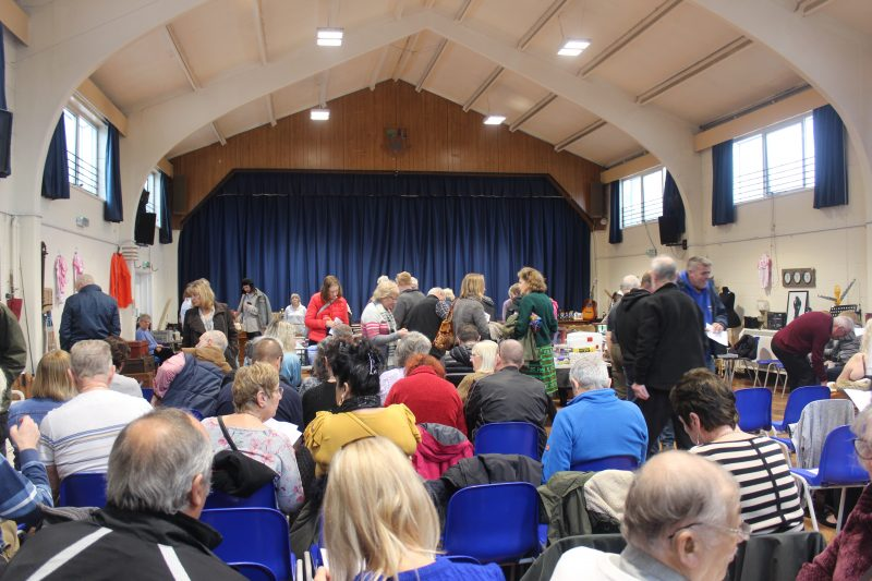 Boughton Village Hall is the setting for the popular montly Swale Auctions