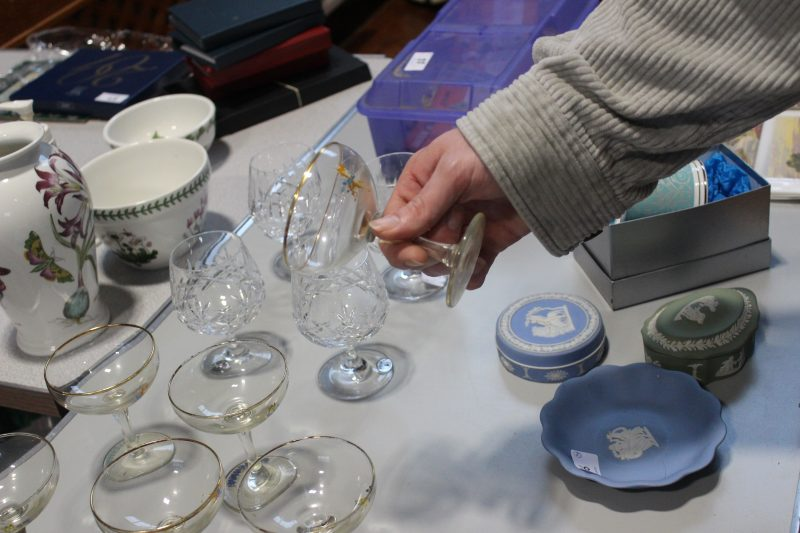 Wedgwood, crystal glasses and Portmeirion pottery are just a few of the elegant items on offer at Swale Auctions