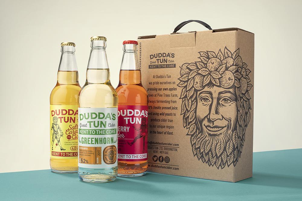Flavoured cider produced b Dudda;s Tun