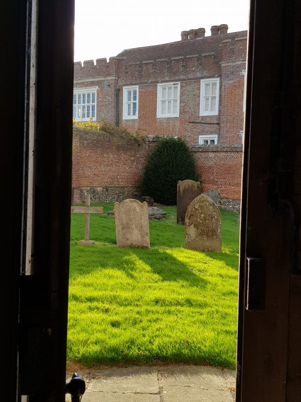 Looking out to Otterden Place from the church