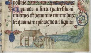 1325 Luttrell Psalter: Eel weir