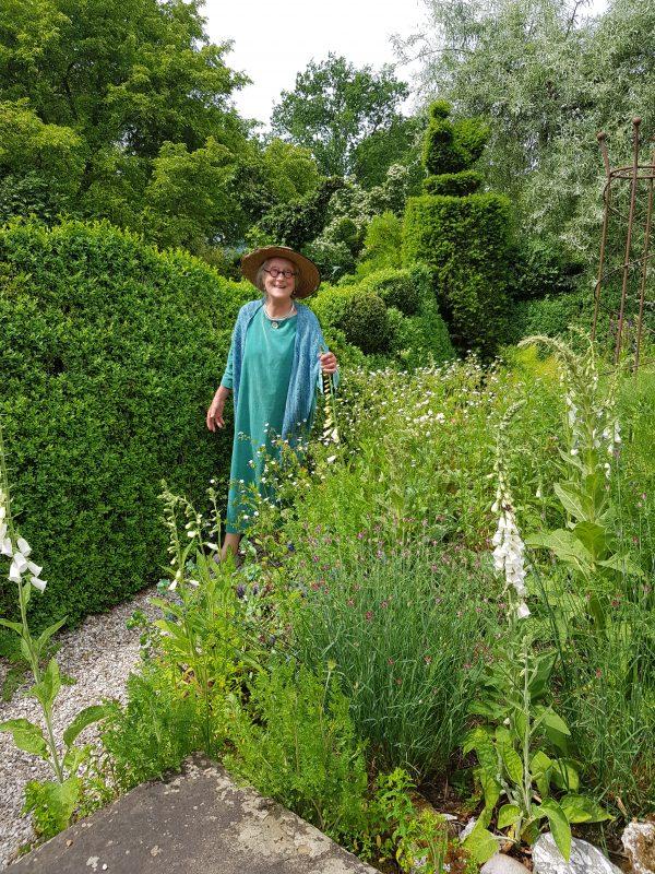 Charlotte Molesworth in her garden in Benenden