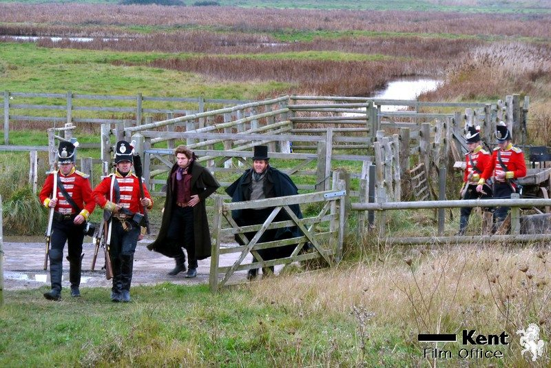Behind the scenes filming Great Expectations at Oare marshes