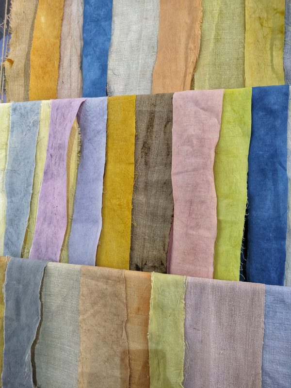Naturally-dyed linen