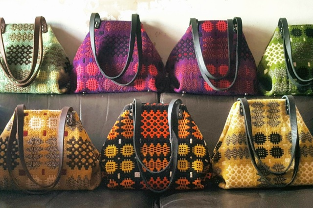 Ffrangcon bags made with vintage and repurposed textiles