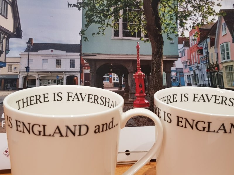 Mugs sold in aid of the Faversham Society
