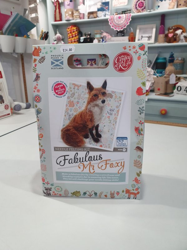 A needle felting kit to make Fabulous Mr. Foxy