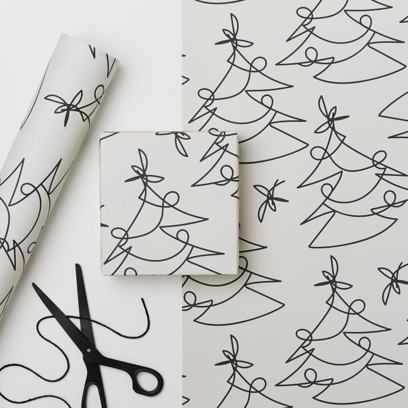 Contemporary wrapping paper by Kinshipped
